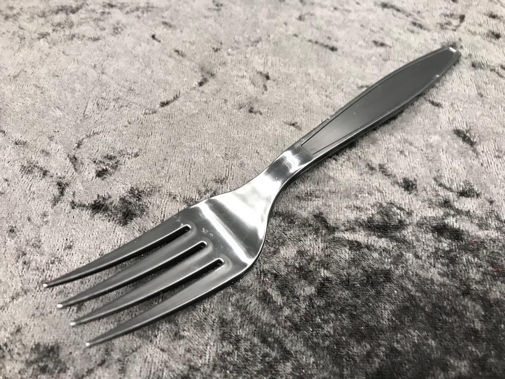 隨餐-免洗餐叉(黑色美耐碗)
