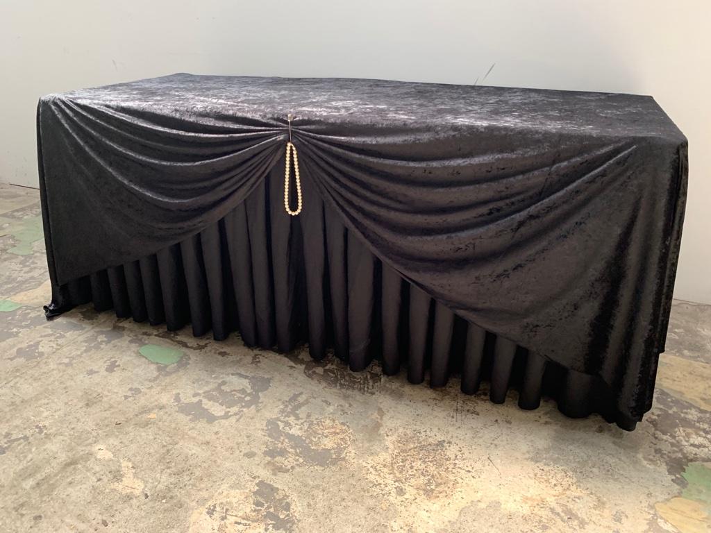 桌子桌巾桌裙(黑色)